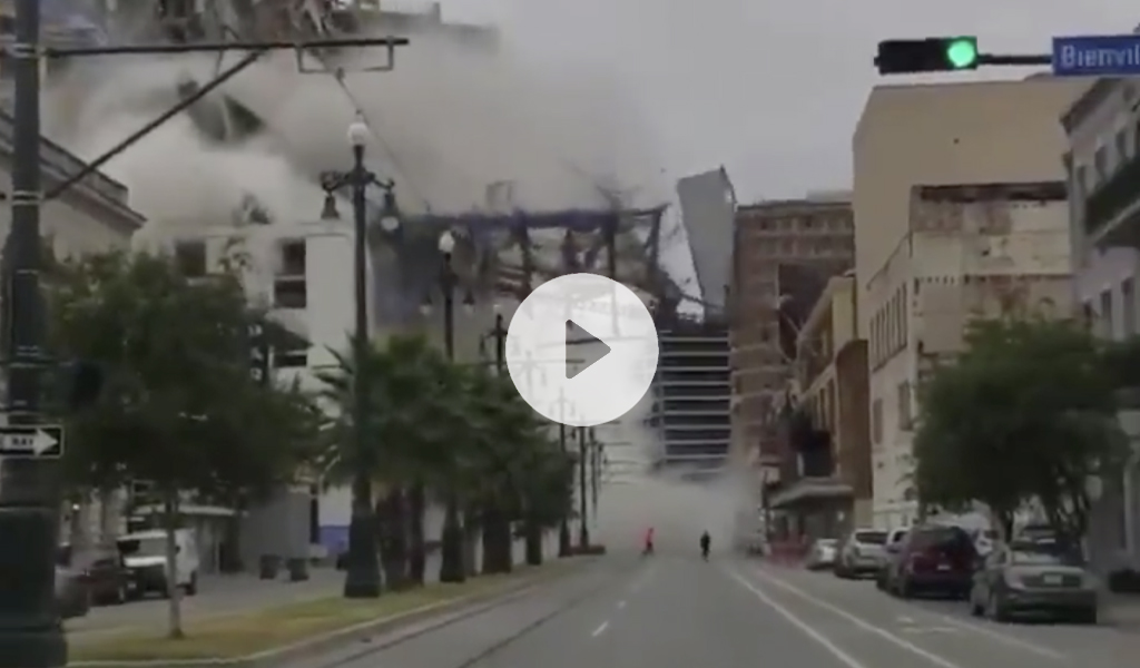 Nueva Orleans, Estados Unidos, video, se desploma un edificio, se cae, muertos, heridos