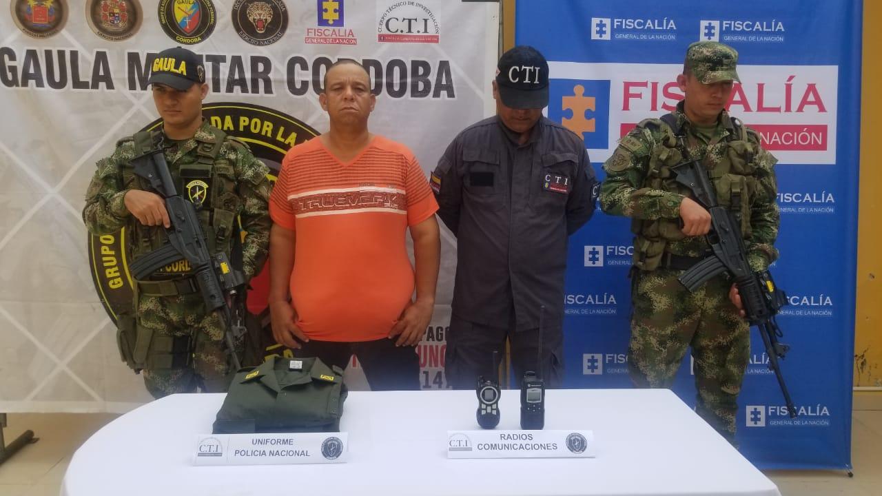 Capturado en Córdoba jefe de finanzas del Clan del Golfo