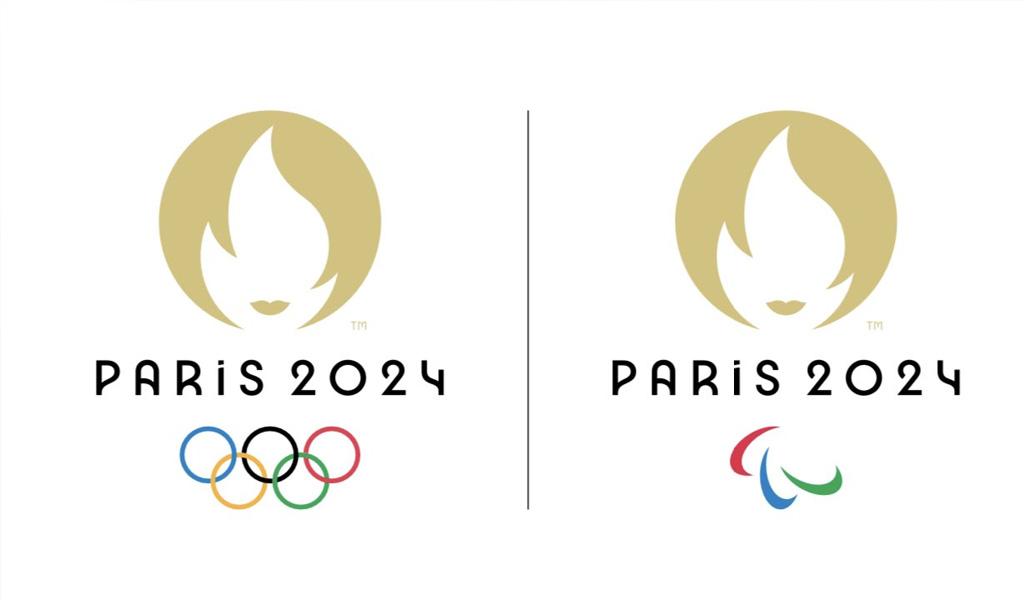 El oro, fuego y Marianne en el logo de París 2024