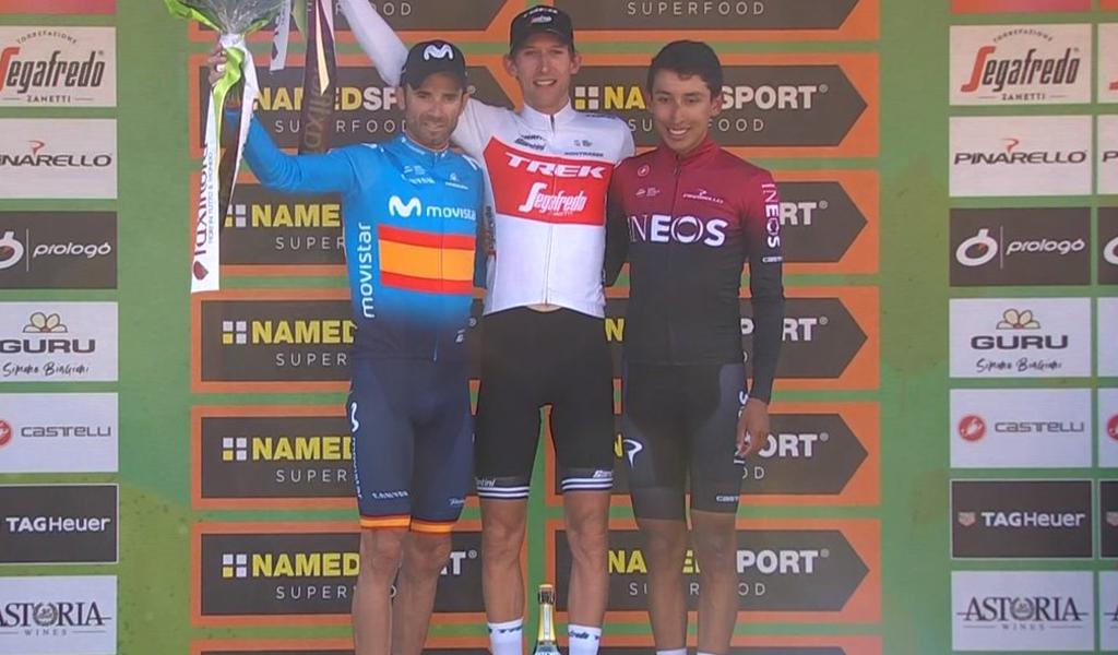 Egan Bernal quedó tercero en el Giro de Lombardía