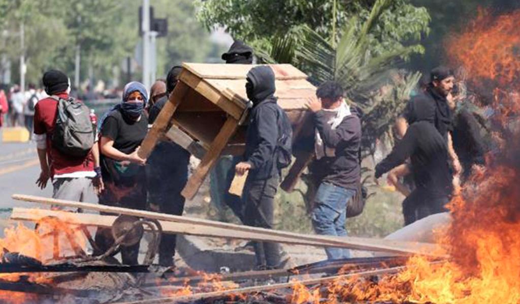 Protestas, saqueos y vandalismo en Chile