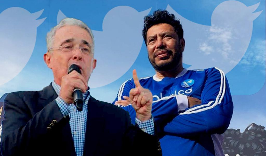 Critican a René Higuita por foto con Álvaro Uribe