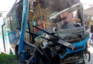Aparatoso accidente de bus del SITP