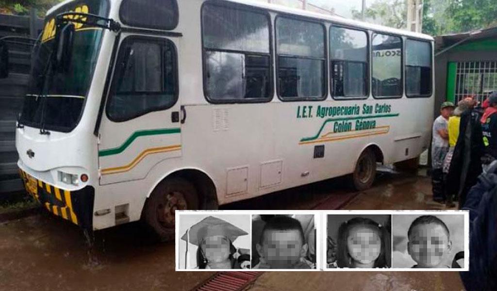 Cuatro niños murieron en accidente de tránsito