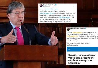 Reacciones al nombramiento del nuevo ministro de Defensa