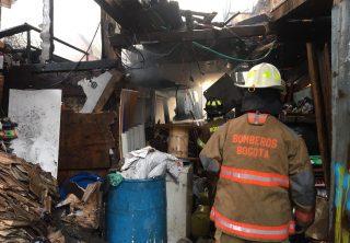 Una menor falleció tras incendio en Bogotá