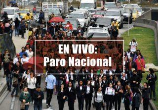 EN VIVO: Paro nacional del 21 de noviembre