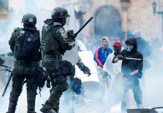 Van más de 150 integrantes de la Fuerza Pública heridos