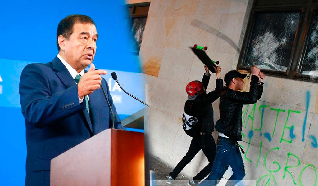 172 personas capturadas por actos violentos en marchas