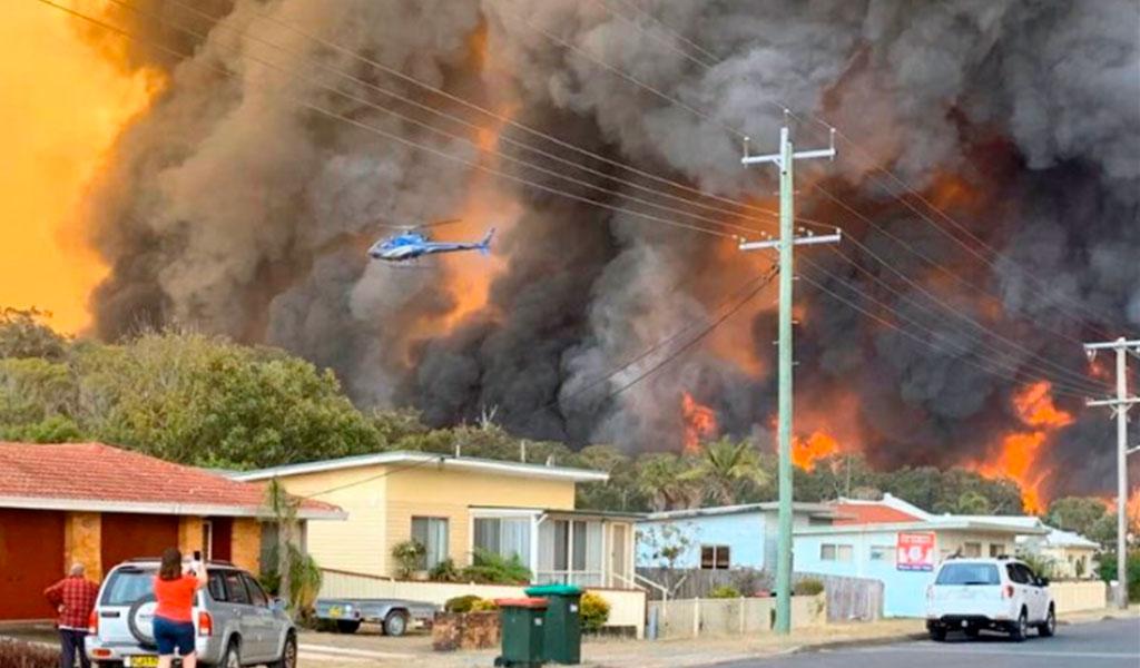 Humo de incendios en Australia llegaría a Suramérica