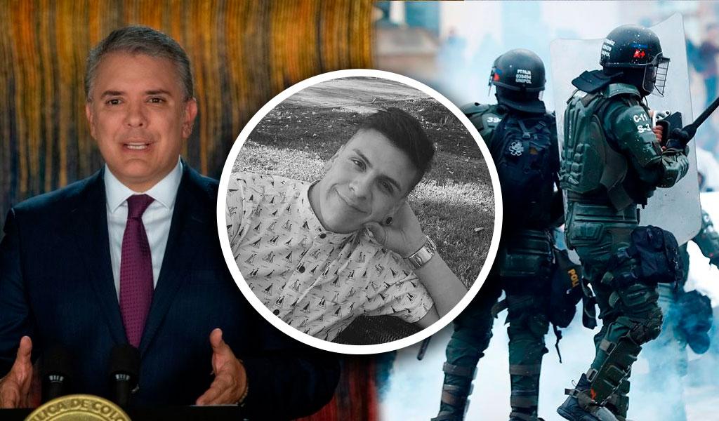 """""""Debilitar la fuerza pública no es el camino"""": Duque"""