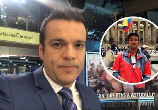 Juan Diego Alvira 'paró' al hombre de la bandera en vivo