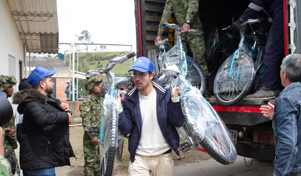 Bicicletas para mejorar movilidad de niños en Villapinzón