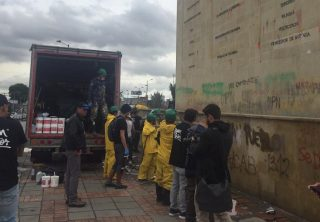 Jornadas de limpieza a los monumentos en Bogotá