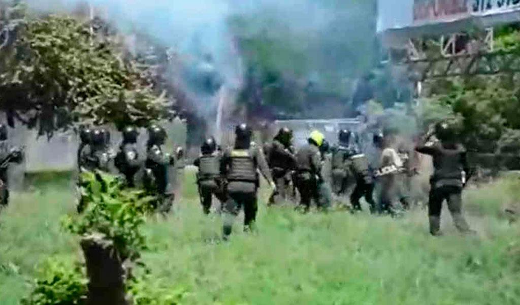 Policía rechaza ataque con explosivo en Neiva