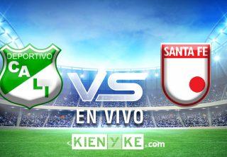 Victoria del Deportivo Cali contra Santa Fe