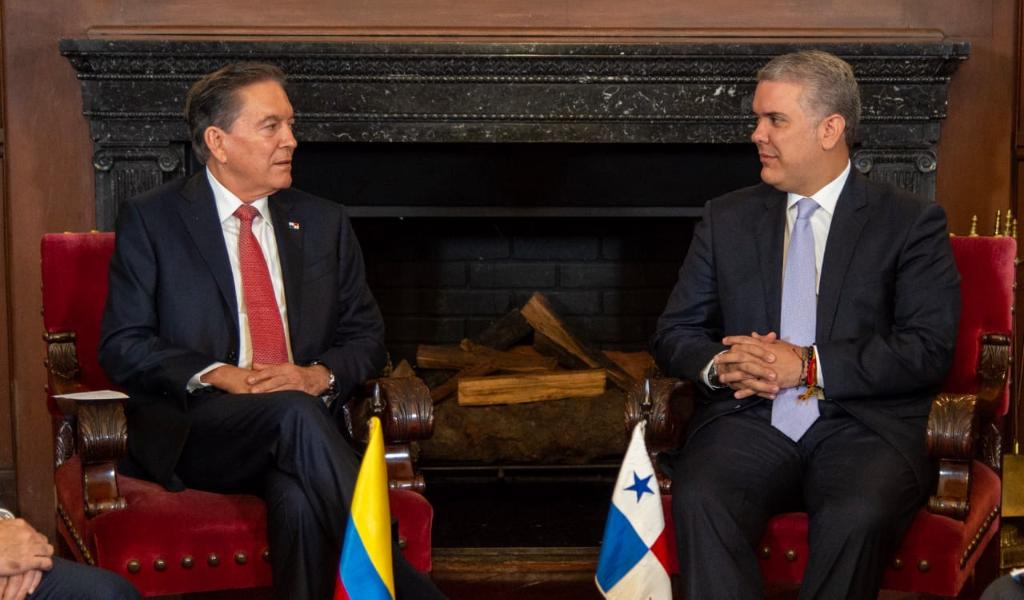 Presidentes de Panamá y Colombia se reunieron en Bogotá