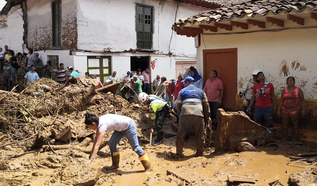Emergencia en Jericó por fuertes lluvias y deslizamientos