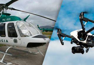Desde un helicóptero se identificarán rostros de encapuchados