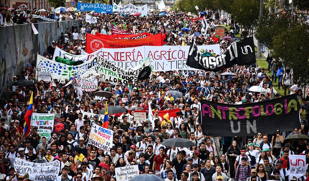 Marchas, 21 de noviembre, puntos de concentración, recorrido, universitarios, vias