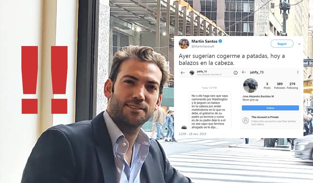 Martín Santos y otras denuncias de amenazas en la red