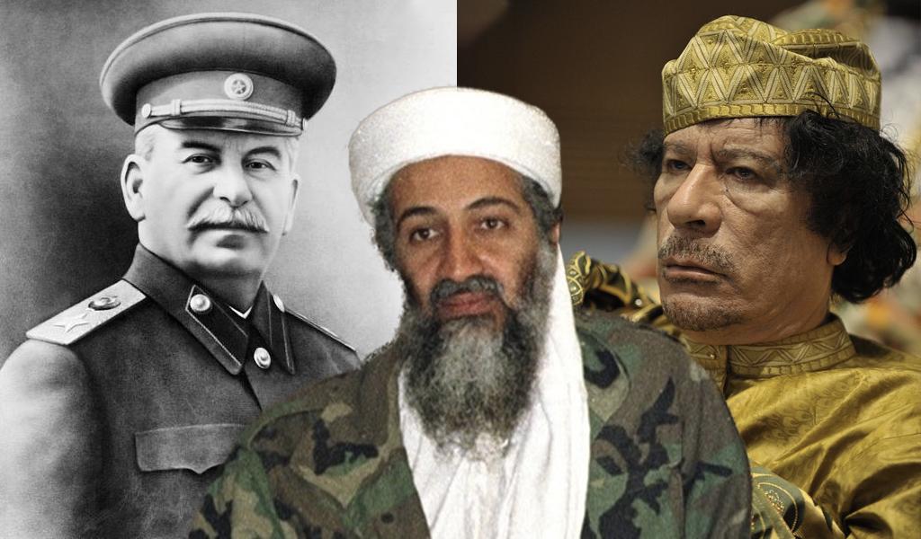hijos, nietos, líderes, mussolini, bin laden, Muamar Gadafi