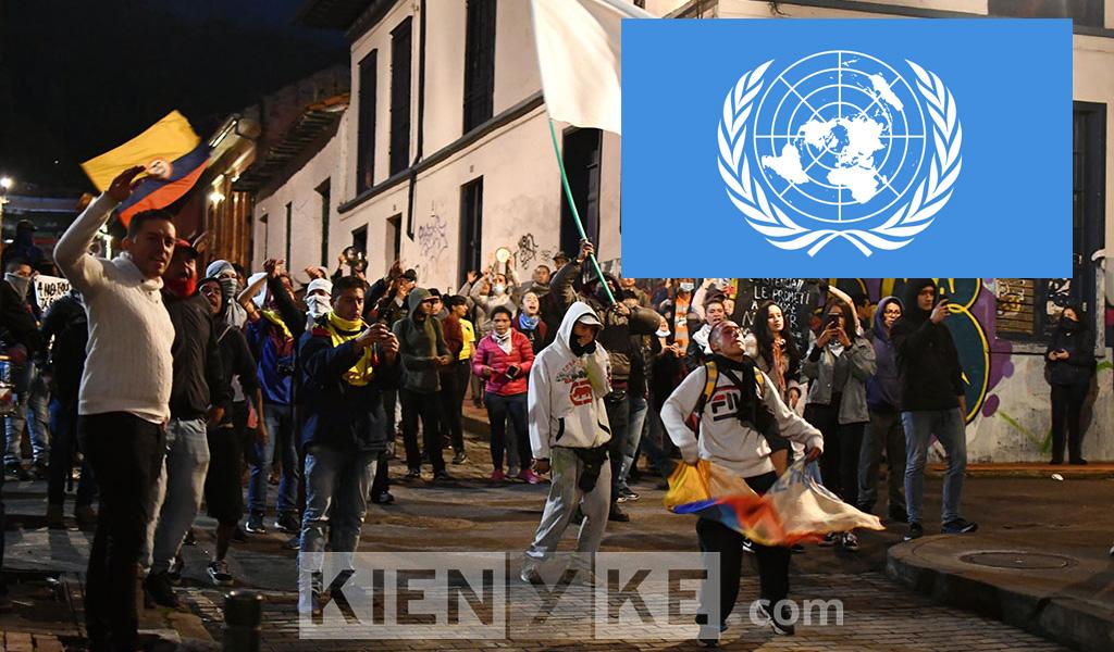 ONU se pronuncia frente a manifestaciones en Colombia