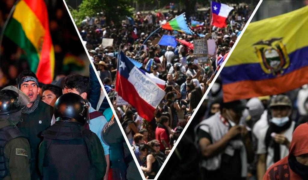 América Latina, por qué protestan, gobiernos, países, violencia
