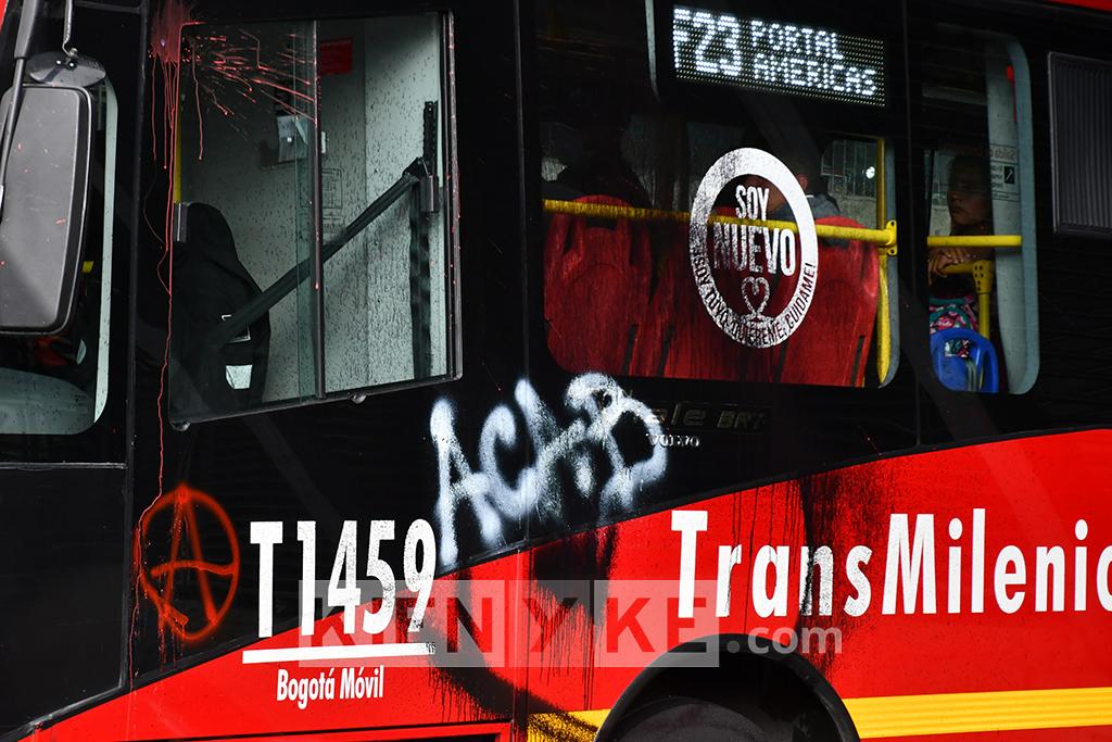 Millonarias pérdidas por vandalismo a TransMilenio