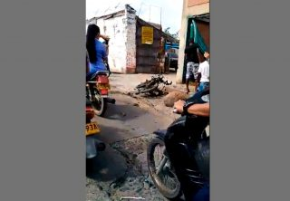 Motocicleta bomba fue detonada en Florida, Valle del Cauca