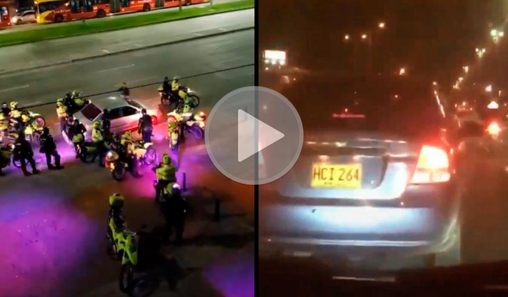 ¿Por qué la Policía usó un carro para trasladar a personas?
