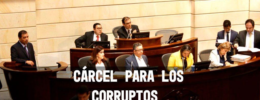 Cárcel a corruptos da un paso más en el Congreso