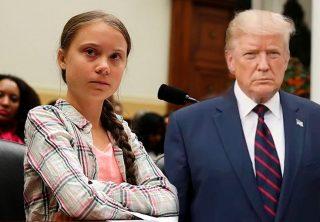 """Trump le dice a Greta Thunberg que trabaje su """"problema de ira"""""""