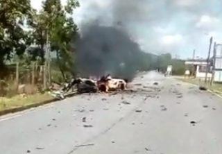 Carro bomba explotó en Cubará, Boyacá