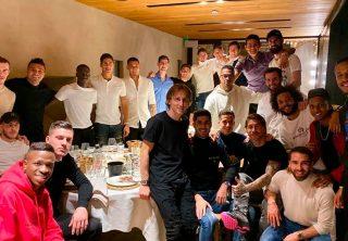 La celebración del Real Madrid en Navidad