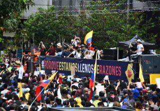 Así fue el canto por Colombia en Bogotá