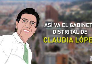 Así va el gabinete distrital de Claudia López