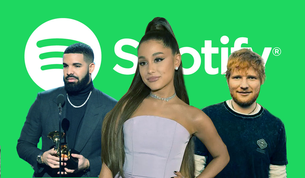 Spotify revela los artistas más escuchados de la década