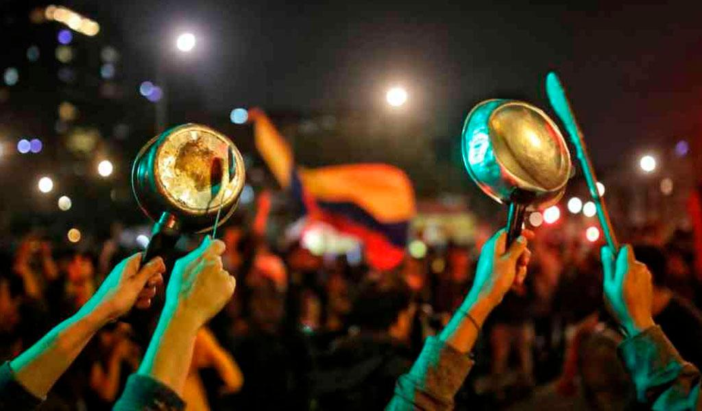 Paro nacional, marchas, cacerolazo, donde, Bogotá, Colombia