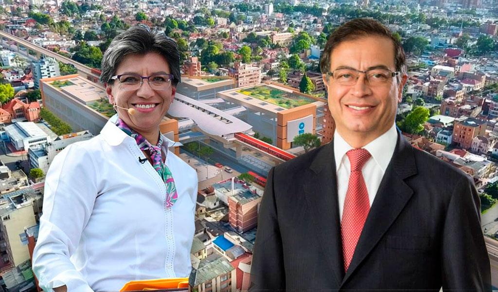 Petro critica a Claudia López por informe sobre el metro