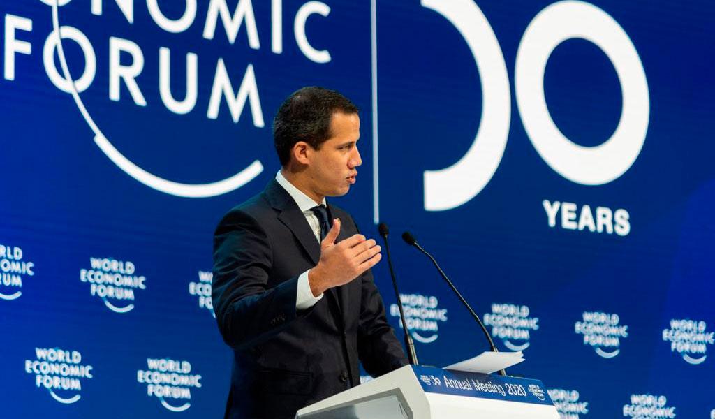 Guaidó, Foro Económico Mundial,