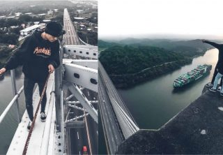 Joven arriesga su vida por una foto en el Canal de Panamá