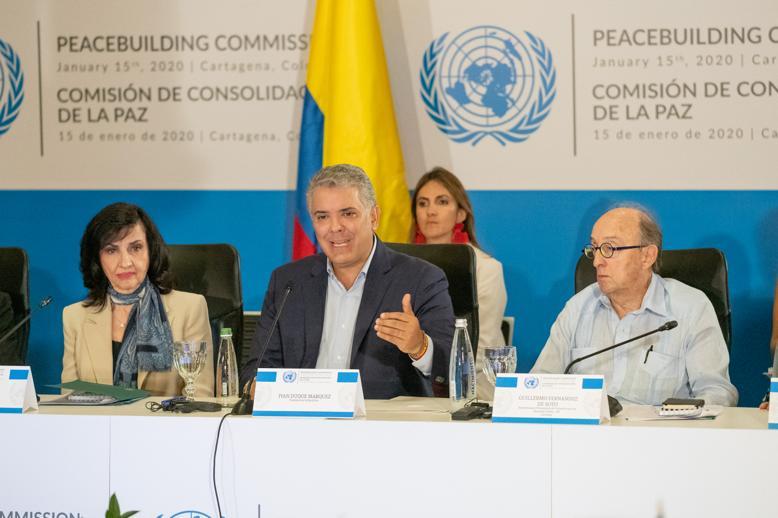 Duque propone fortalecer el Fondo de Consolidación de la Paz
