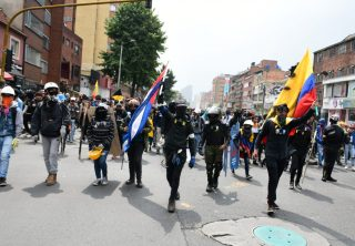 Violencia manchó la primera protesta del 2020