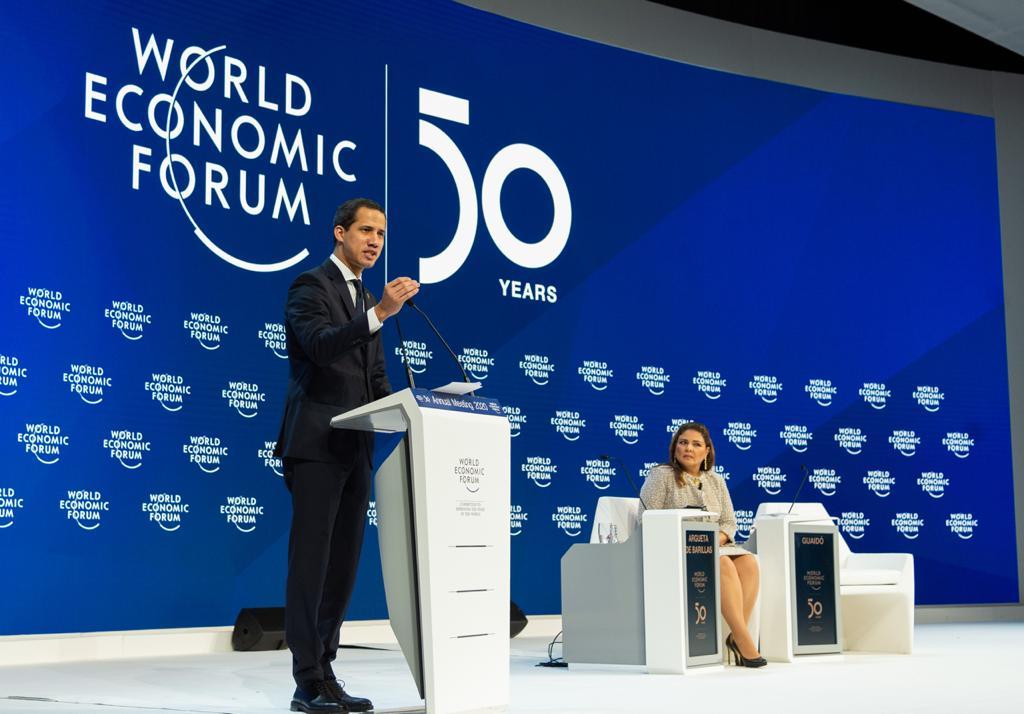 Guiadó, Foro Económico Mundial ,Davos,