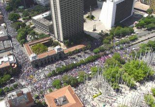 Marchas en Medellín transcurren de manera pacífica