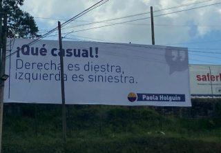 Controversia por valla que referencia frase de Paola Holguín