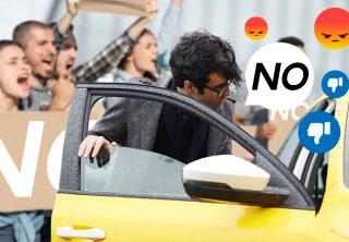 Tuiteros le dieron la espalda a los taxistas