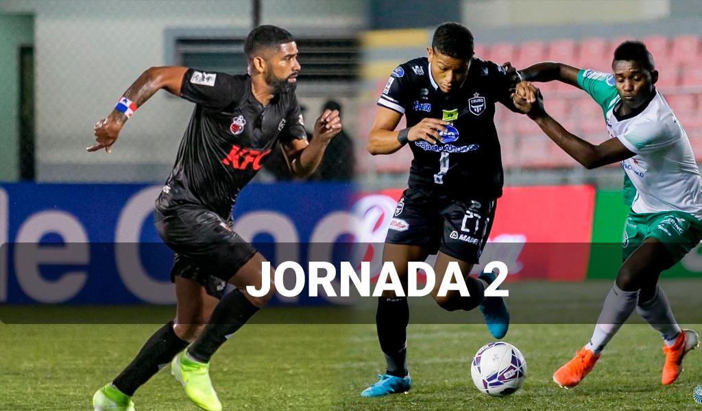 Resultados de la segunda jornada del fútbol panameño