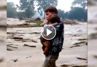 Hallan bebé desaparecido tras deslizamiento en Piedecuesta